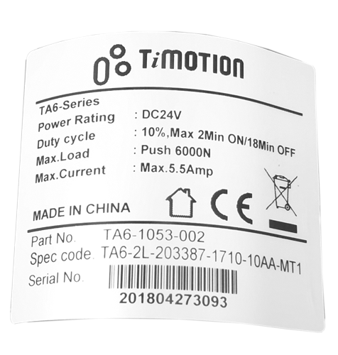 LZB 2 BUTTON MOTOR CLOSE UP LABEL