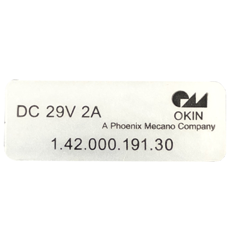 2 Button OKIN handset id label