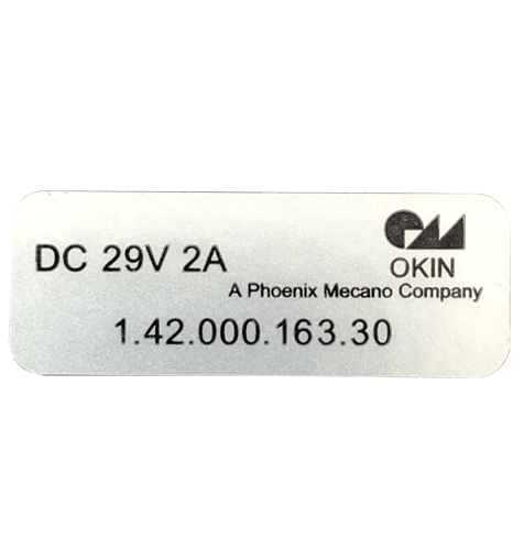 6 Button OKIn handset id label